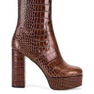 Paris texas Moc Croco Platform Ankle Boots 40.5